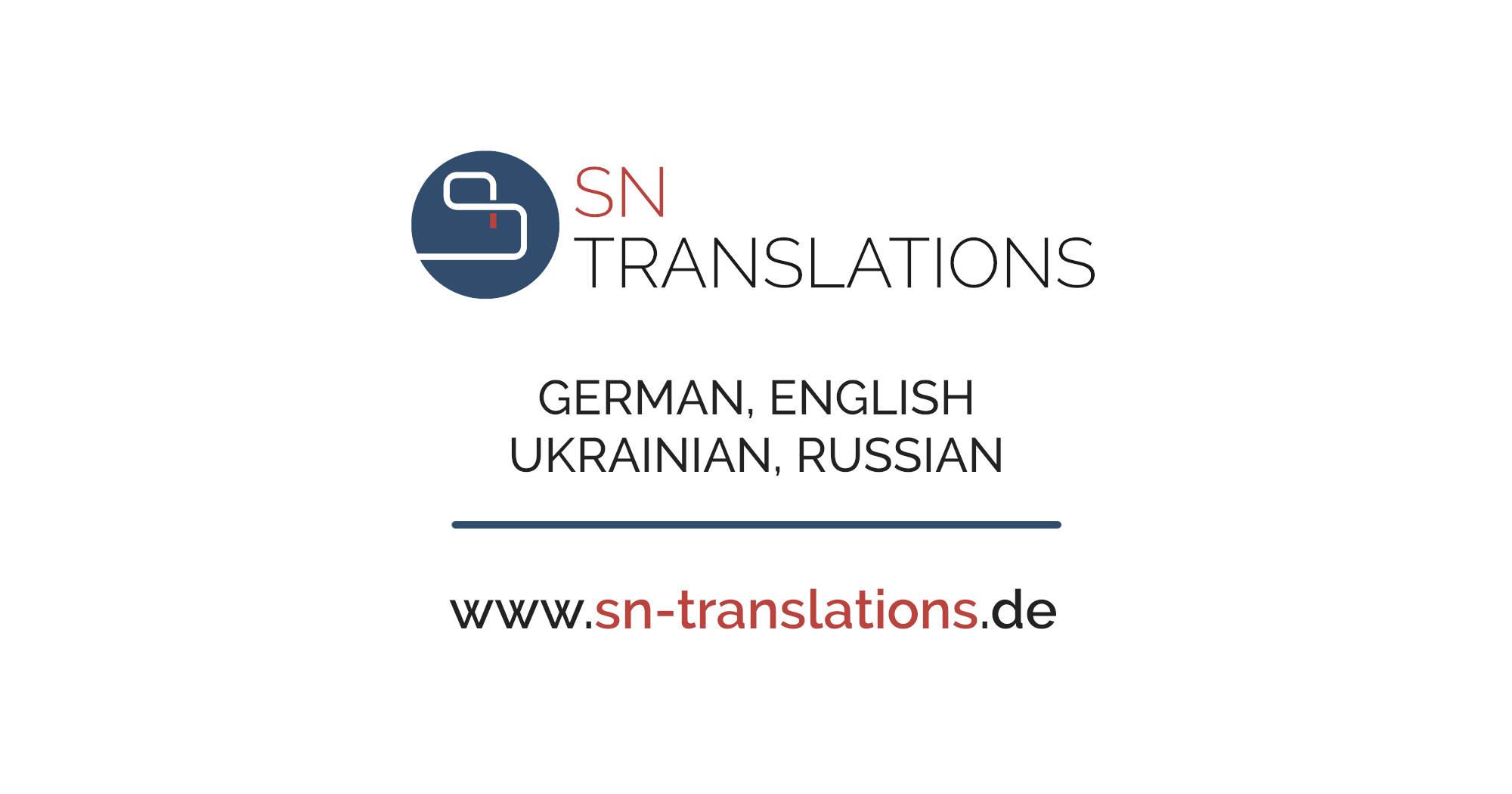 OpenGraph: Facebook - SN Translations • Übersetzungsbüro • Deutsch, Englisch, Ukrainisch, Russisch